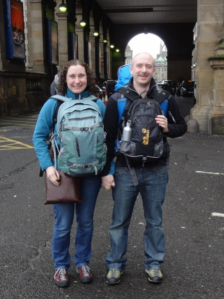 Us setting off from Newcastle train station