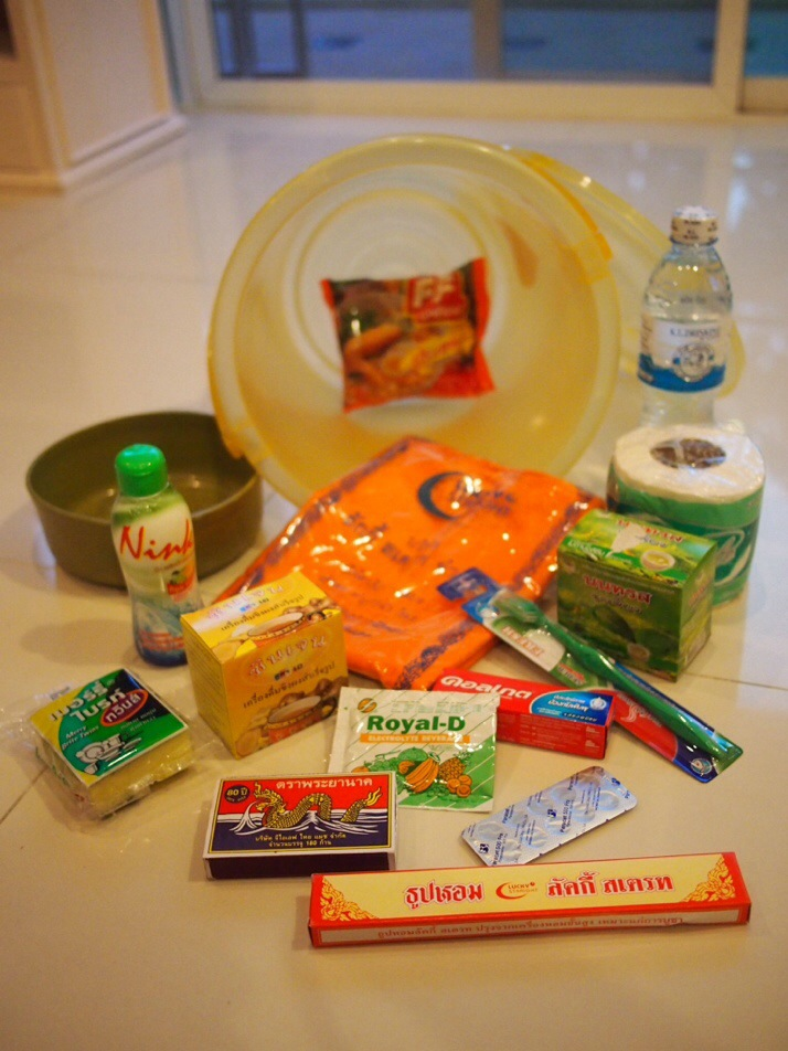 The contents of our Monk Basket