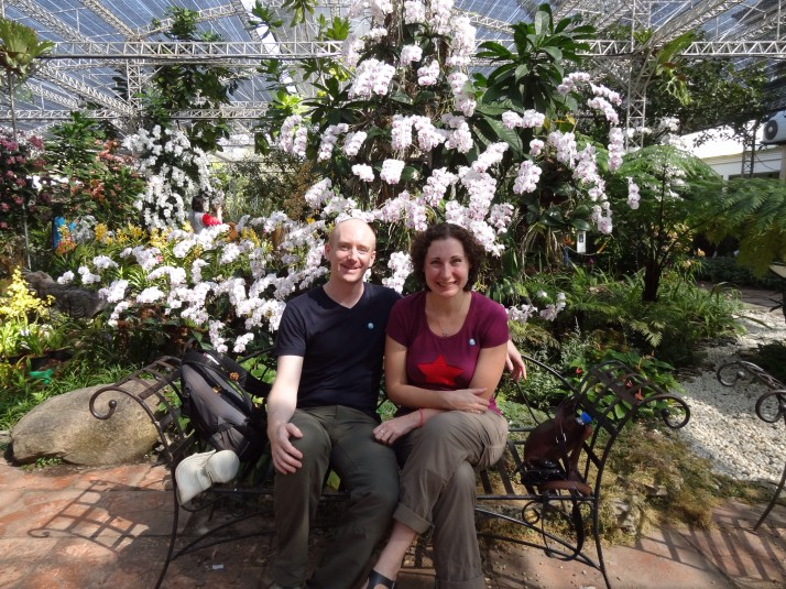 Us in the orchid garden