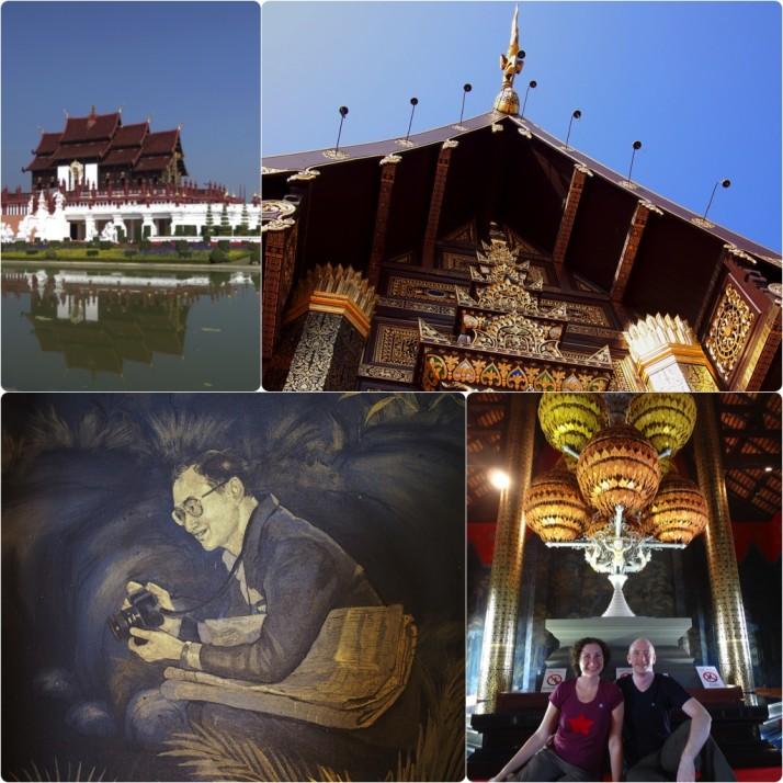 Collage of the Royal Pavilion, Royal Flora Ratchaphruek Park, Chiang Mai
