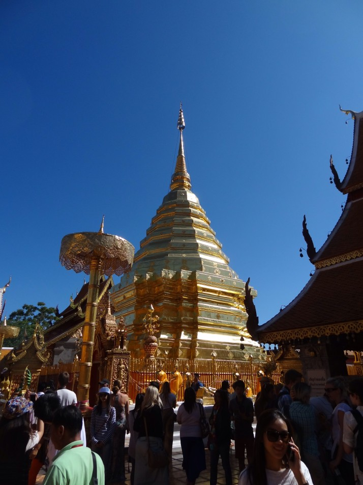 Wat Phrathat Doi Suthep: The one with the golden Chedi, on the hill overlooking Chiang Mai