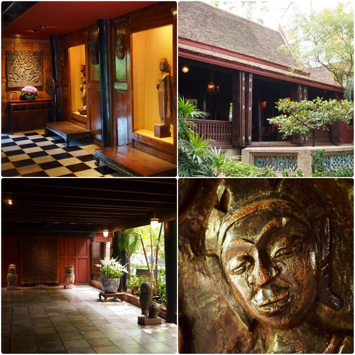Jim Thompson House collage