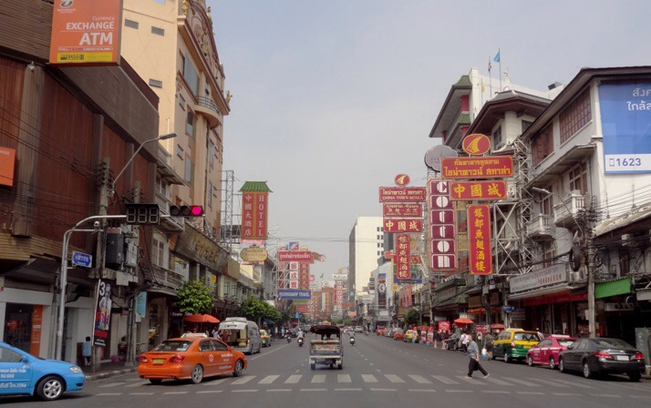 Main road through Chinatown, Bangkok