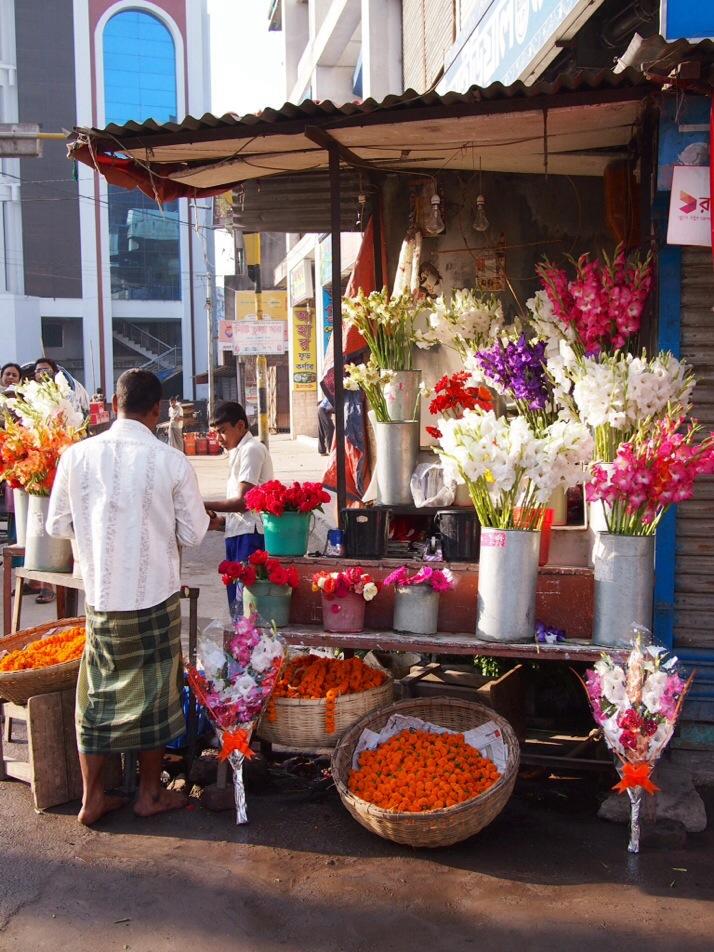 Flower stall, Rajshahi