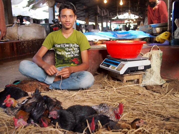 Chicken seller, Dinajpur