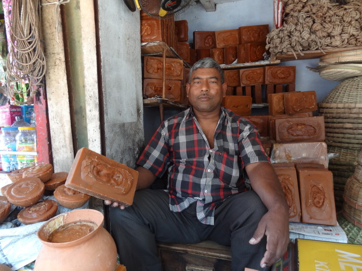 Jaggery (uncentrifuged sugar) seller, Rajshahi