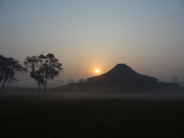 Somapura central shrine in the early morning light