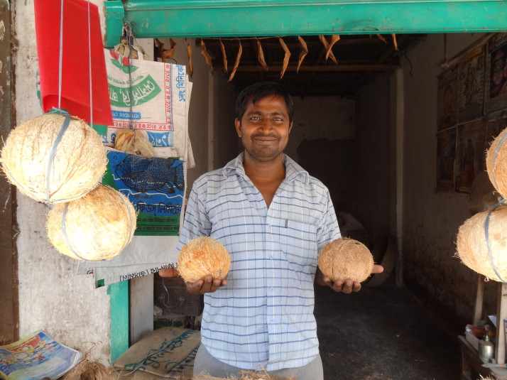 Coconut seller, Dinajpur
