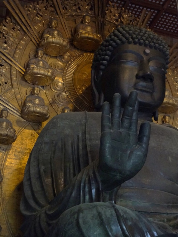 "The ""Daibutsu"", or Great Buddha. The largest bronze statue of Buddha in the world"
