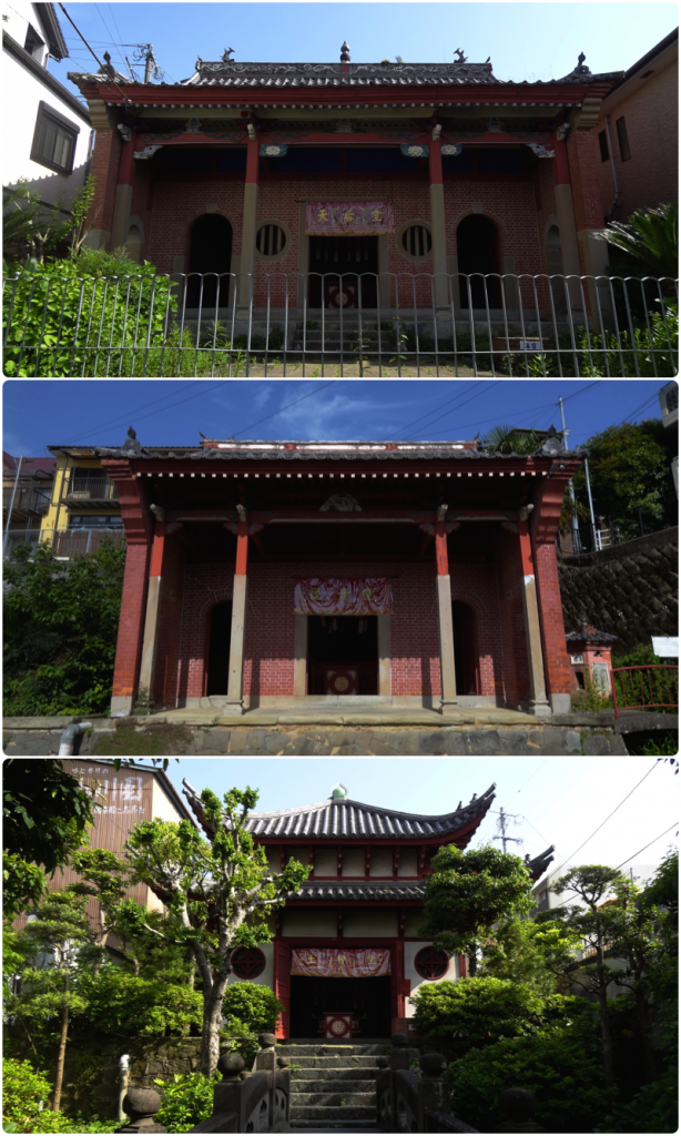 The Temples of the Chinese Quarter in Nagasaki;  Fukken-Kaikan; Kannon-do; Dojin-Do