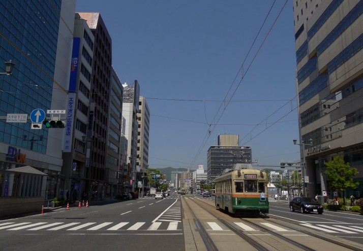 Old trams run alongside brand-new trams in Hiroshima