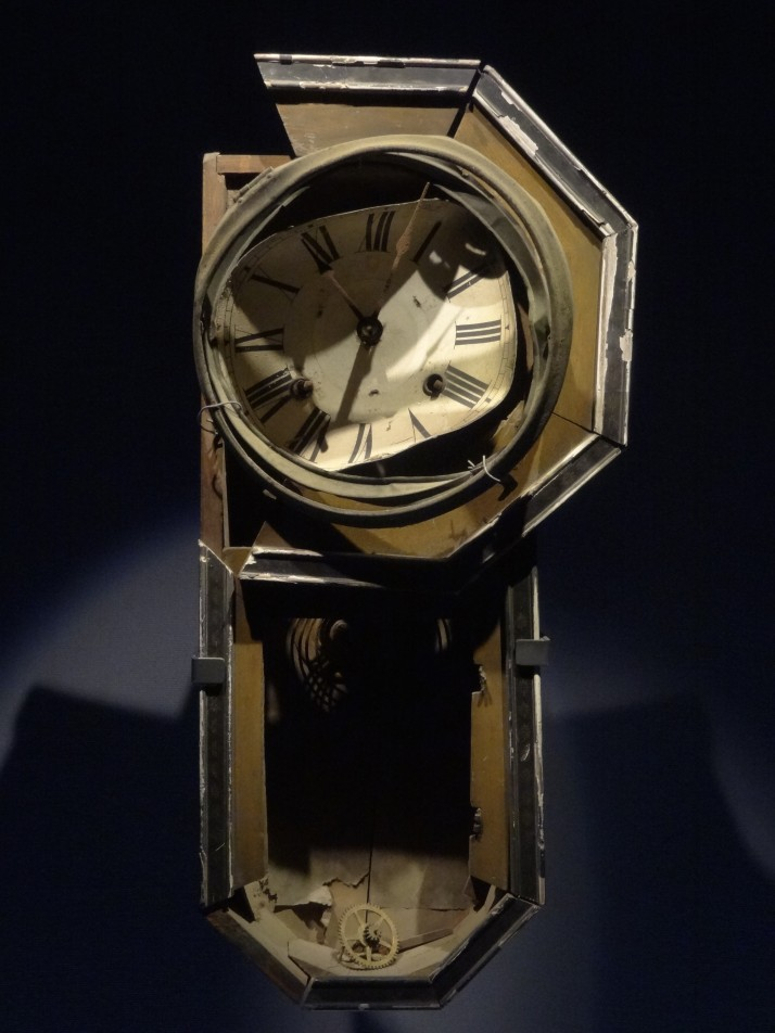 Wall Clock stopped at 11:02, found 800 metres from the hypocenter and on display in the Nagasaki Atomic Bomb Museum