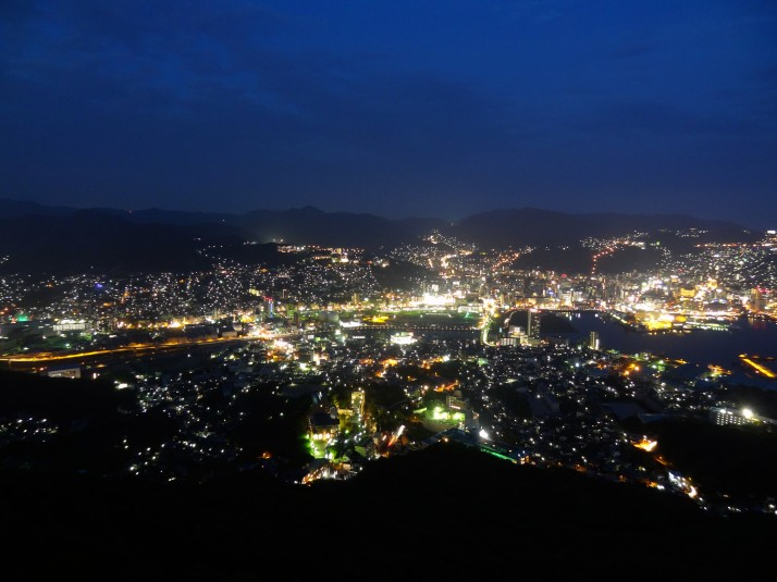 Nagasaki by night. One of the top 3 night-time city port views in the world. According to Nagasaki..