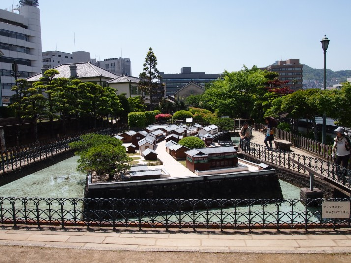 Scale model of Dejima in the north-eastern garden area, Dejima
