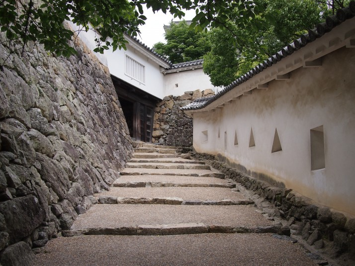 The defensive embrasures of Himeji Castle