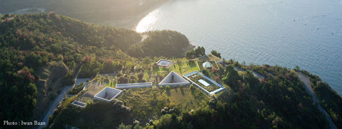 Chichu Art Museum. Ando's design meant the museum building is all underground. Source: Benesse Art Site Naoshima