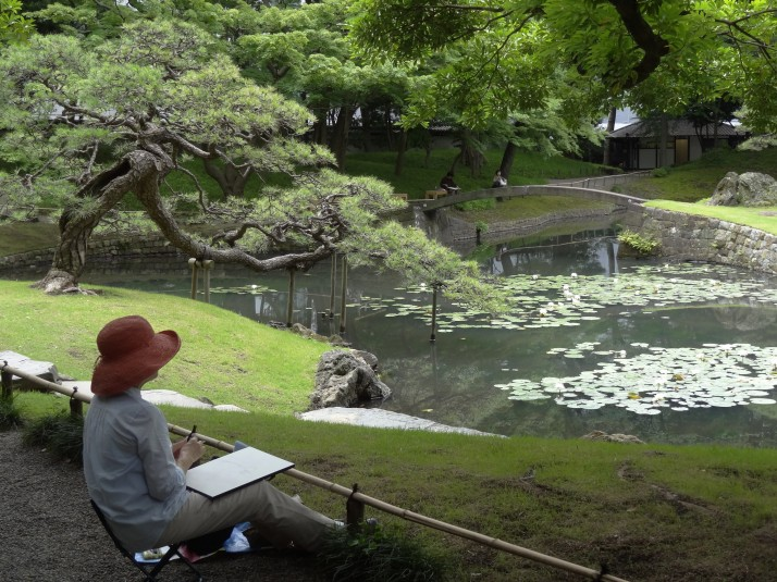 "The ""indoor garden"" section of Koshikawa Korakuen attracts many artists trying to capture the beauty and tranquility"