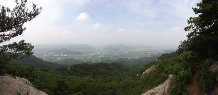 The views over Gyeongju were very nice too
