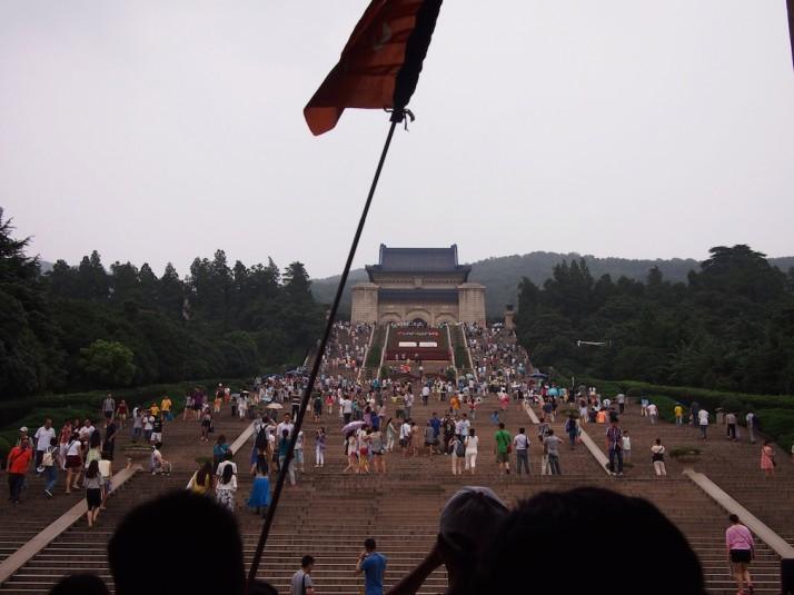 Stairway to Dr Sun Yat-sen's Mausoleum, Nanjing, China