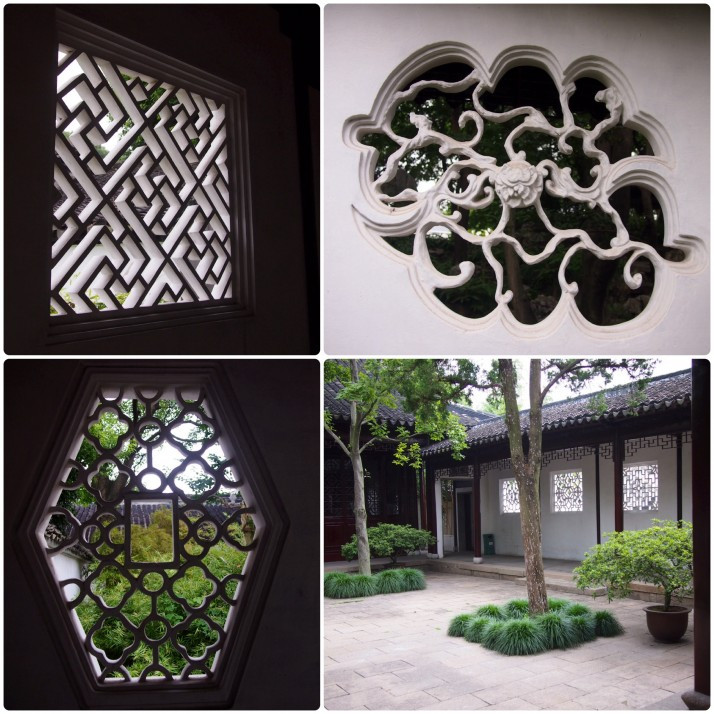 Canglang Pavilion's latticed windows