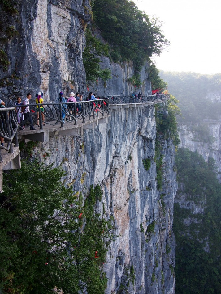 Cliffside path, Tianmen mountain