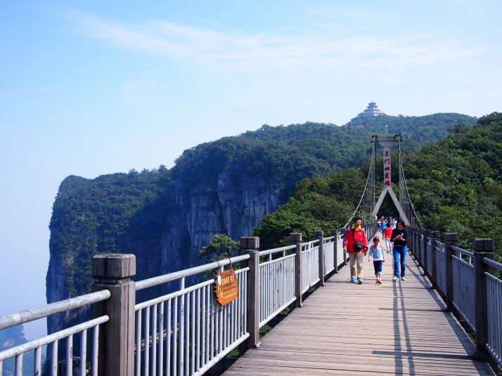 Suspension bridge on Tianmen mountain