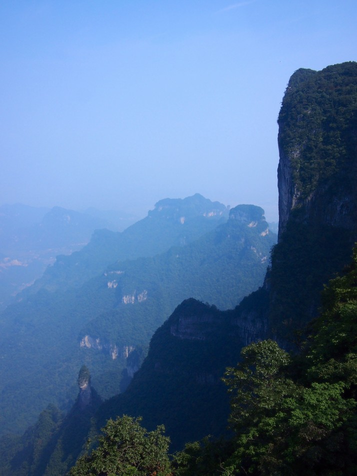 View from Tianmen mountain