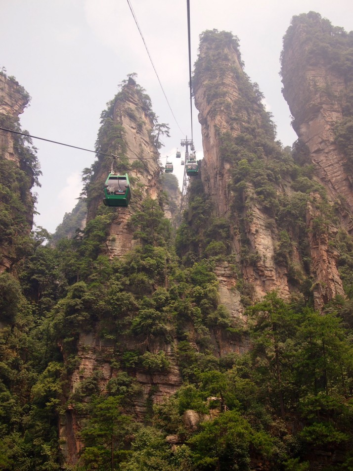 Huangshizhai cable car