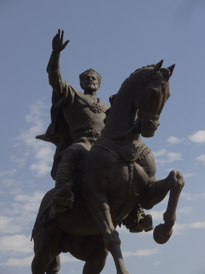 Statue of Amir Timur, the national hero of Uzbekistan