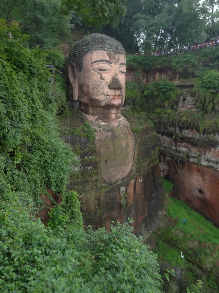 The Leshan Buddha, the biggest statue of Buddha in the World
