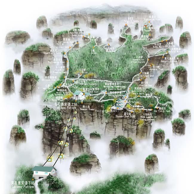 Huangshi Village Map