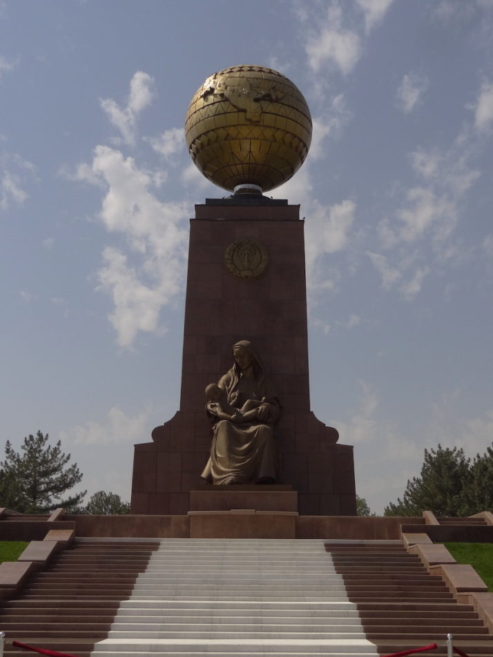 Tashkent's Crying Mother statue in remembrance of the Uzbek soldiers that fought in World War II
