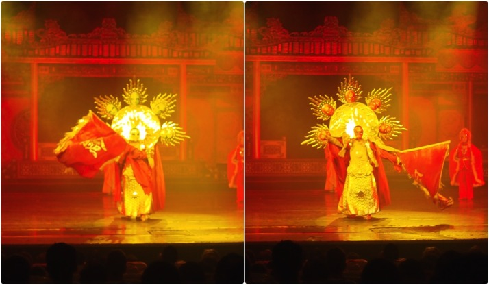 Bian Lian performer with an extra 5 masks