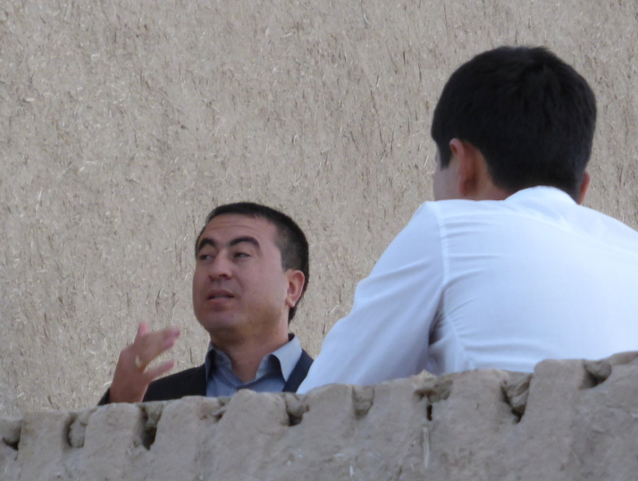 Athambek, the Uzbek singer/songwriter I met in Khiva