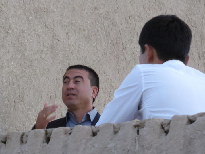 Athambek, the Uzbek singer/songwriter I met in Khiva