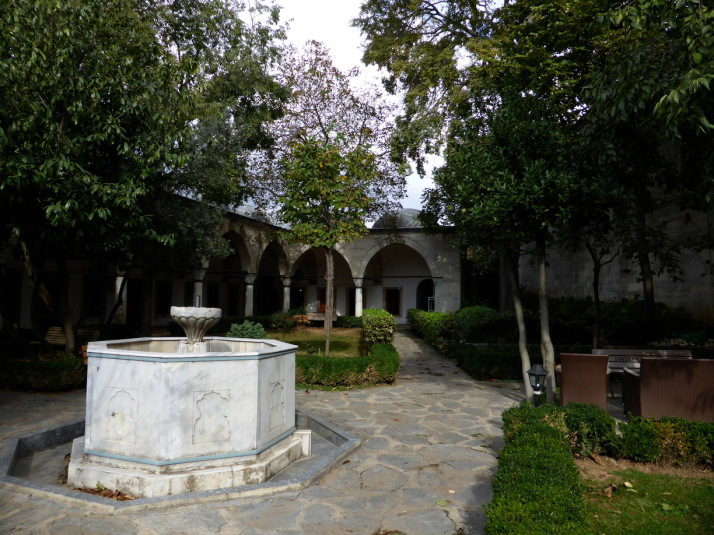 The medrese of the Atik Valide Complex, a peaceful, enclosed courtyard