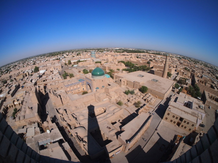 Khiva from the top of the Islom Hoja Minaret