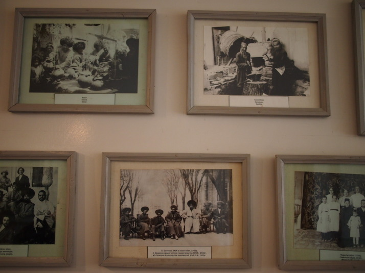 A small selection of the framed photographs of old Khiva on display in the Khiva Photography Museum