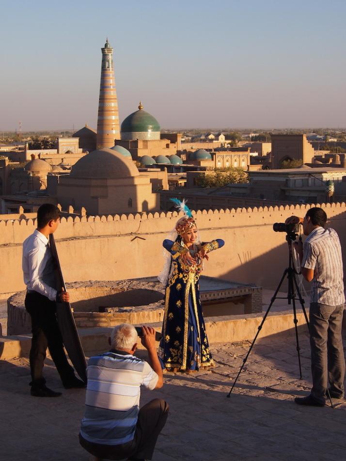 Shooting for an Uzbek music video!