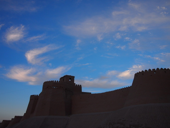 The Kuhna Ark and city walls of Khiva, Uzbekistan