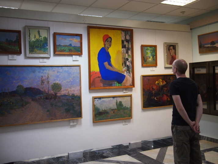 The 1st floor also contains of section of works by Karakalpak artists