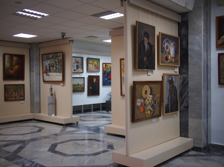The 2nd floor of the main building - all available space is used for display