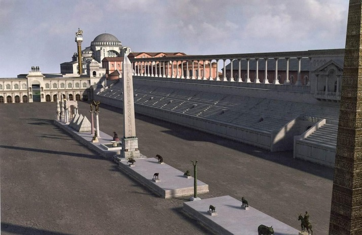 A computer generated reconstruction of the Hippodrome
