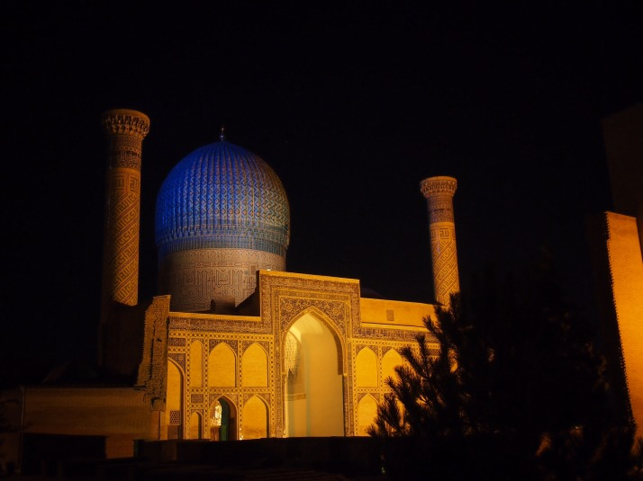 Gur-E-Amir Mausoleum at night