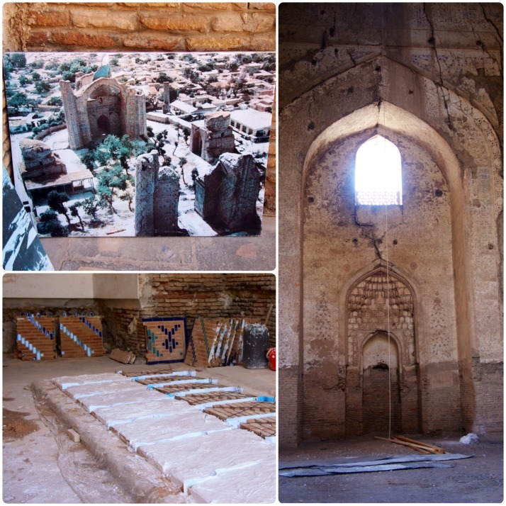 Restoration work at Bibi Khanym Mosque