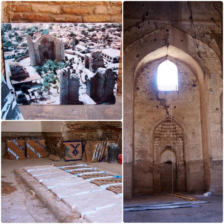 Restoration work at Bibi Khanym Mosque