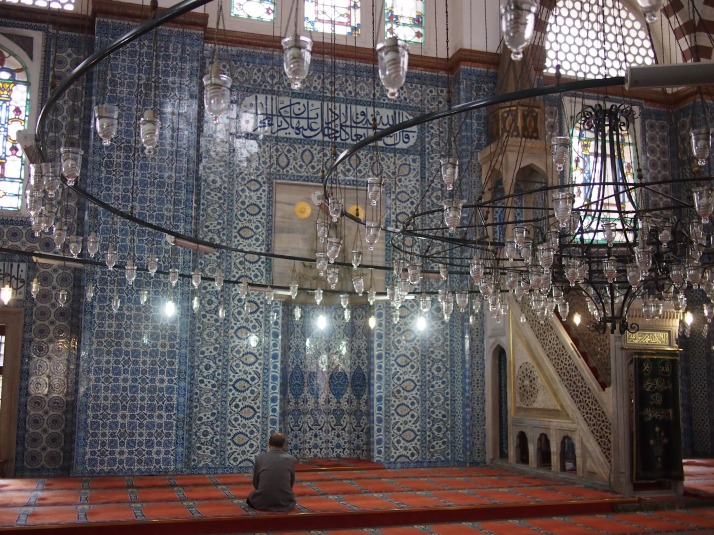 Tiled interior of Rustem Pasha Mosque