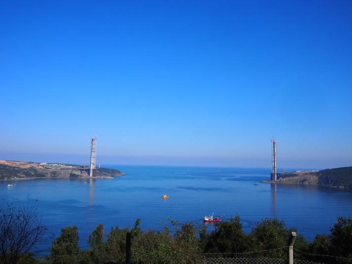 Construction of third Bosphorus bridge