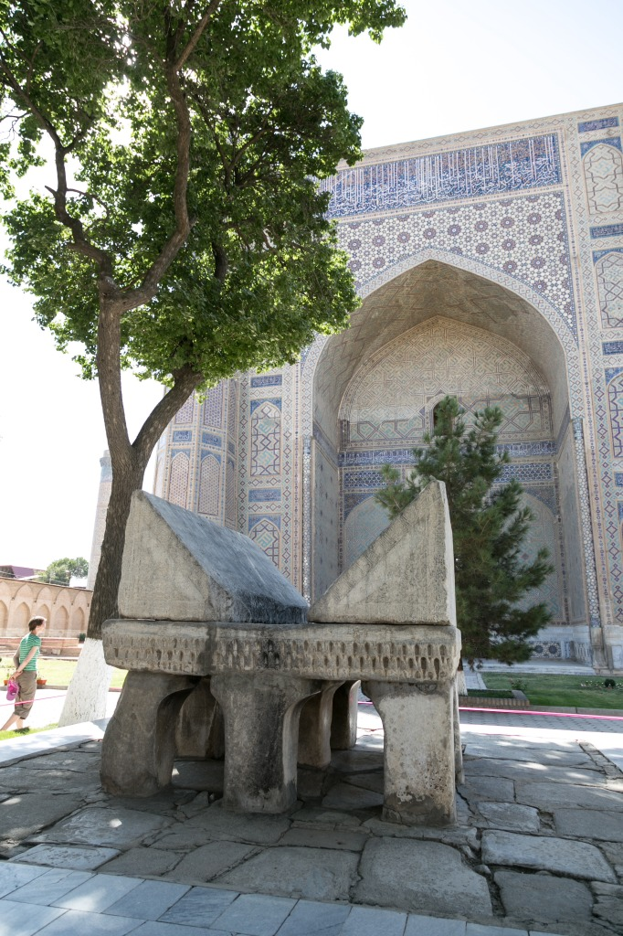 Bibi Khanym Mosque stone Quran stand