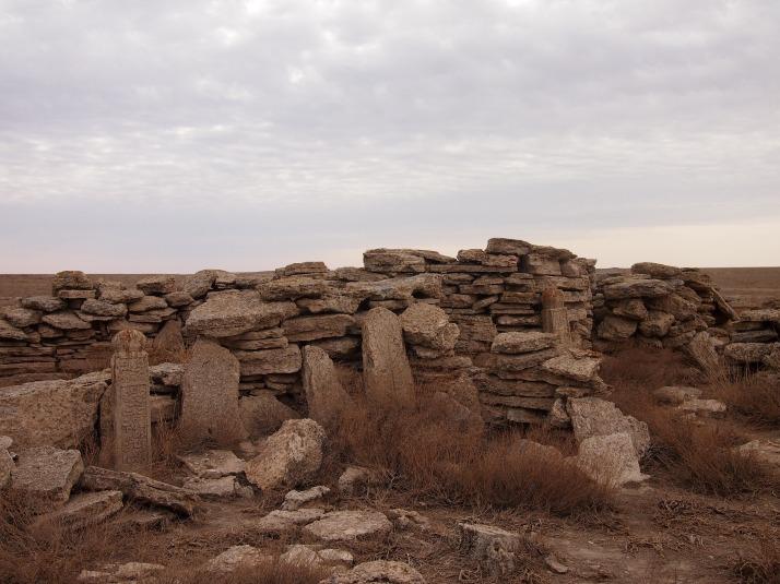 Kazakh tribal gravestones